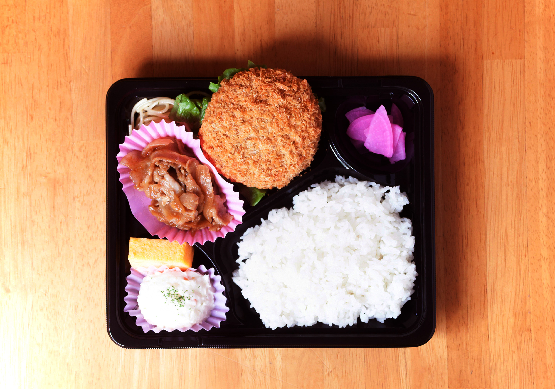 生姜焼&メンチカツ弁当